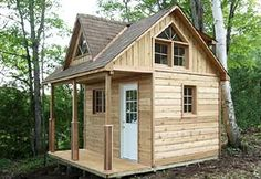 This compact 12 x 12 cabin has an 8 x 12 enclosed space, and is considered to be under 100 sq. ft. by most permitting authorities.