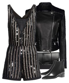 """Untitled #9884"" by theleatherlook ❤ liked on Polyvore featuring Balmain, Givenchy, H&M and Acne Studios"