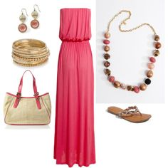 Pink Maxi Summer, created by glennadesigns.polyvore.com