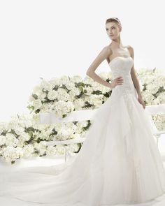 Yeray vestido de novia aire vintage