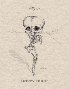 #Design – Esqueleto de desenhos animados  