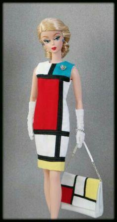 Mod Mondrian Dress and Purse - Barbie (Clone)