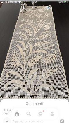 Crochet Placemats, Filet Crochet Charts, Eeyore, Hani, Diy And Crafts, Crochet Patterns, Knitting, Crochet Table Runner, Crochet Carpet