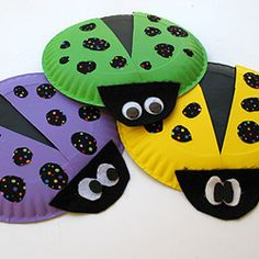 ladybug craft; love the fabric polka dots