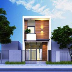 Mẫu thiết kế nhà phố 2 tầng đẹp hiện đại. Hình ảnh minh họa số 1