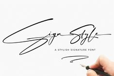 Introducing Sign Style is a stylish Signature font with contemporary and sophisticated accents. It is perfect for logo/branding projects, large header text and Sign Fonts, Typography Fonts, New Fonts, Script Fonts, Font Logo, Calligraphy Fonts, Caligraphy, Stylish Fonts, Signature Fonts