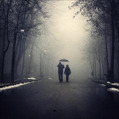 a rainy winter morning