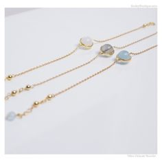 Delicate bracelet with natural semiprecious stone. Can be worn alone or layered with other bracelets. gold over sterling silver Latest Jewellery Trends, Jewelry Trends, Aquamarine Bracelet, Cute Bracelets, Toe Rings, Anklets, 18k Gold, Gold Necklace, Gemstones