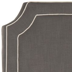 Dane Charcoal and Light Grey Headboard Black Upholstered Headboard, Studded Headboard, Full Size Headboard, Headboard Cover, Twin Headboard, Headboards, Shelf Headboard, Headboard Ideas, Twin Girl Bedrooms