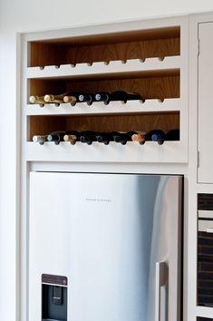Open Plan Kitchen Living Room, Kitchen Sets, Wine Shelves, Kitchen Shelves, Modern Wine Rack, American Fridge Freezers, Shed Homes, Handmade Kitchens, Bespoke Kitchens