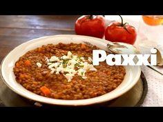 Κοκκινιστές φακές σούπα — Paxxi Greek Recipes, Vegan Recipes, Dessert Recipes, Desserts, Kid Friendly Meals, Chana Masala, Chili, Main Dishes, Beans