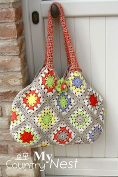 My country nest: My first crochet bag