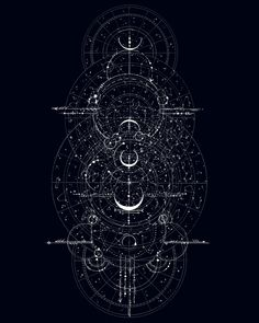 Astronomy I Framed Art Print by Signumnoire - Vector Black - Dark Wallpaper, Galaxy Wallpaper, Space And Astronomy, Hubble Space, Space Telescope, Space Shuttle, Sacred Geometry Art, Magic Circle, Black And White Illustration