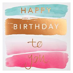 Buy Card Mix Birthday Brush Greeting Card Online at johnlewis.com