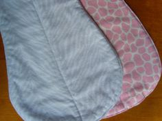 Quilted Boutique Baby Bib and 2 Burp Cloths Gift Set Pastel Pink & Gray Animal Prints Giraffe and Zebra by PurpleLadybugGifts on Etsy