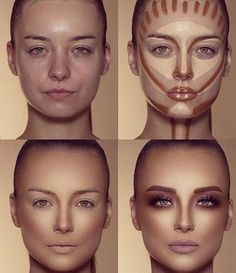 How To Do Make-up – Step By Step Ideas For The Good Look Spotlight contour hypnaughty.make-up samer khouzami mild pores and skin Makeup Contouring, Contouring And Highlighting, Skin Makeup, Makeup Cosmetics, Highlight Contour Makeup, Contouring For Beginners, Contour Makeup Products, Makeup Eyeshadow, Contour Nose