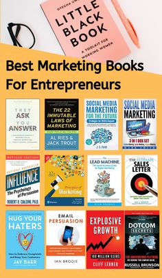 Would you like to improve your marketing skills in In this article, we'll go over some of the best marketing books every entrepreneur should read. Marketing Quotes, Marketing Books, Digital Marketing Strategy, Marketing Logo, Marketing Strategies, Business Marketing, Affiliate Marketing, Best Self Help Books, Best Books To Read