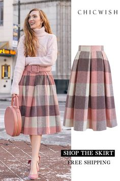 Skirt midi winter fashion Ideas skirt skirt skirt skirt outfit skirt for teens midi skirt Winter Chic, Winter Style, Fall Winter, Komplette Outfits, Casual Outfits, Girly Outfits, Modest Fashion, Fashion Dresses, Modest Clothing