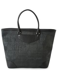 French Connection 'Beach Basket' Raffia Tote