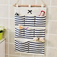 Sundry Cotton Wall Hanging Organizer Bag Multi-layer Holder Storage Bag Home Decoration Makeup Rack Linen Jewelry 5 Aad 8 Pocket - Online Shopping Destination with High-Quality Hanging Makeup Organizer, Wall Hanging Storage, Door Storage, Fabric Storage, Diy Hanging, Closet Storage, Bathroom Storage, Storage Rack, Storage Ideas