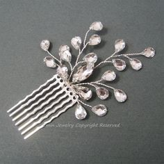 Vintage Style Bridal Hair Accessories, Rhinestone Vine Bridal Hair comb via eminjewelry on Etsy