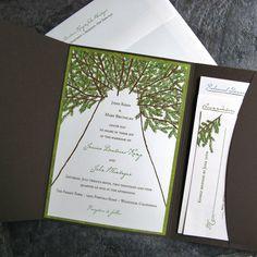 Another redwood wedding invitation