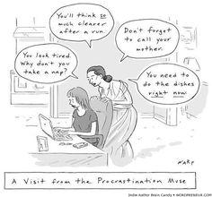 The Procrastination Muse (more writer laughs @ Wordpreneur.com)