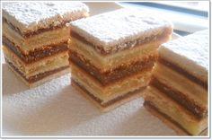 Foi de miere si crema de gris Romanian Desserts, Romanian Food, Romanian Recipes, Hungarian Cake, Cake Recipes, Dessert Recipes, Layered Desserts, Honey Recipes, Food Cakes