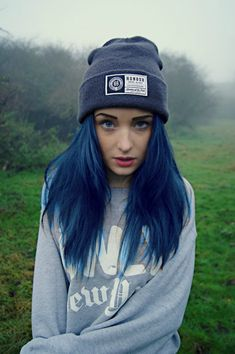 I'm going to dye part of my hair blue eventually. Well all of it except the roots. No more bleach on my scalp!!