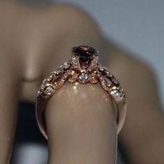 chocolate diamond engagement ring