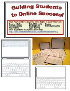 So, while browsing online, I stumbled across an interesting site, and as a parent and a teacher, I was hooked!  This is a free K-12 site (but you need to join) that provides lessons and information, regarding students/children and Internet use.        To Compliment these resources, I created some hands on laptop/tablet pages to allow students to practice their online skills and etiquette, without even having to be online.  This could also provide real life writing practice.  A great way to teach