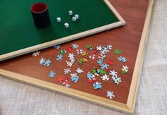 Combination game table puzzle tray tabletop by CarolinaGoods