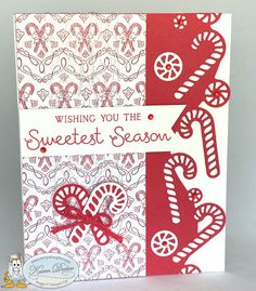 August Club Cards using Sweetest Time Bundle – Stampalosopher Simple Christmas Cards, Homemade Christmas Cards, Christmas Hanukkah, Stampin Up Christmas, Christmas Settings, Christmas Candy, Xmas Cards, Homemade Cards, Christmas Sweets