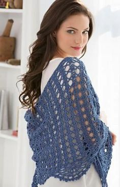 Ravelry: Quick Weekend Shawl pattern by Tammy Hildebrand Quick Crochet, Knit Or Crochet, Crochet Scarves, Crochet Crafts, Crochet Clothes, Easy Crochet Shawl, Crochet Granny, Crochet Prayer Shawls, Crochet Shawls And Wraps