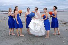 beachy blue and orange