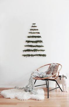 Get into the holiday spirit with these beautiful Scandinavian Christmas inspiration ideas. Wall Hanging Christmas Tree, Christmas Room, Noel Christmas, Xmas Tree, Christmas Crafts, White Christmas, Christmas Mantels, Christmas Morning, Christmas Ornament