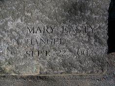 Mary Easty gravestone