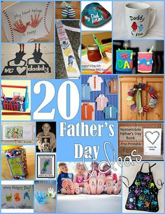 20 Handmade Father's Day Gifts for Kids. -Repinned by Totetude.com