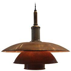 Poul Henningsen Copper Pendant, Denmark, 1929