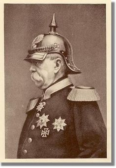 Otto von Bismark, German chancellor (1862-1890).  -- Kaiser whom through several wars, successfully unified Germany under a centralized state.