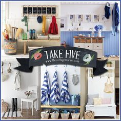 The Cottage Market: Five Fun, Functional and Fabulous Mudroom Inspirations