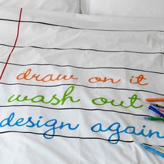 Doodle Duvet Cover Twin by doodle by stitch