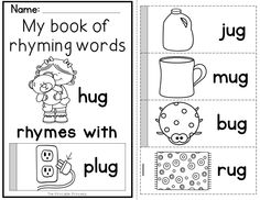 Flip books to teach rhyming words and word families. Include 45 different word family books.