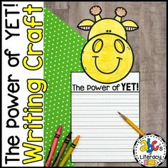 The Power of Yet Writing Craft is a fun and creative growth mindset activity. This craftivity is perfect for your students to complete after reading the book, Giraffes Can't Dance by Giles Andreae. You can display these giraffe crafts along with the bulletin board letters for the whole school to see...