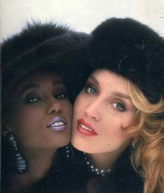 Iman & Jerry Hall by Norman Parkinson, model icons. They've both had amazing careers and are amazing individuals in a tough industry.