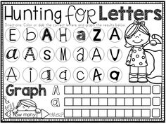 Fun and easy alphabet practice! Use with bingo daubers or crayons.