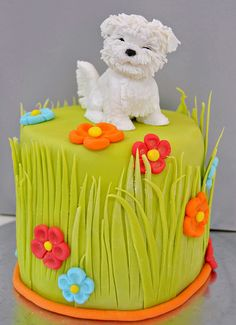 Puppy cake - By 'Anna Savenko' so cute   i would like it also without the doggie