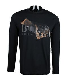 Hugo Boss Mens Tee 11 Colorblock Shirt with Artwork