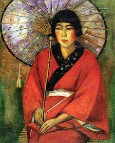 A Japonesa, de Anita Malfatti 1924  [Coleção Gilberto Chateaubriand - MAM/RJ]