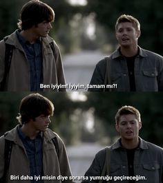 """I'm OKAY."" Dean Winchester Supernatural"